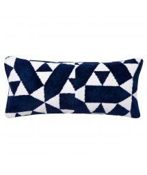 Geometric blue beach pillow with removable cover - RELAX CASTILLO