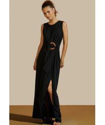 Black dress with a ring - VESTIDO LONGO CRUZEIRO