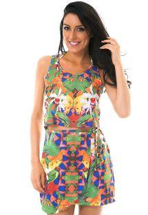 Strandklänningen med kjol / topp effekt - EXUBERANTE ZOUK