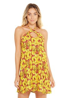 Banana print beach mini dress - LETA BANANA DA TERRA