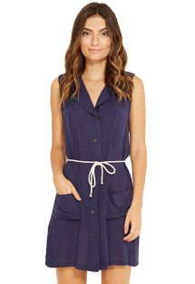 Sleeveless navy shirt beach dress - LUMAR MARINHO