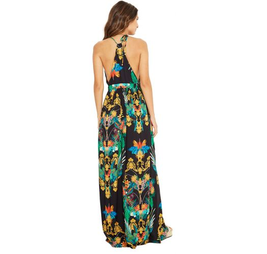 Long colorful beach dress - LUNA REALEZA
