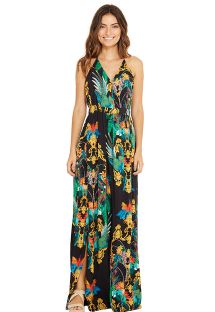 Long colorful beach dress - LUNA REALEZA
