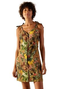 Tropical beach dress with knotted straps - LUZE GAYA