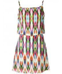 Multicoloured beach dress with low-cut back - MARAMBAIA SINO