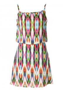 Multicoloured beach dress with low-cut back - MARAMBAIA SINO