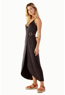 Black long dress with sweetheart neckline - MONIQUE PIER PRETO