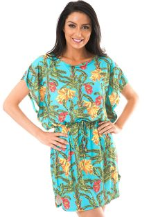 Kaftan-style tropical beach cover-up - MUSA BLAIR