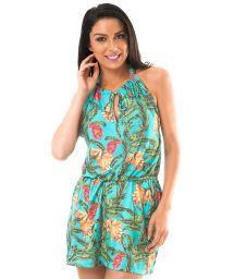 Tropical beach cover-up with elasticated waist - MUSA DROP