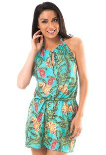 שמלה לחוף הים בעיצוב טרופי עם קו-המותניים אלסטי - MUSA DROP