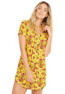 Banana print shirt beach dress - NAOMI BANANA DA TERRA