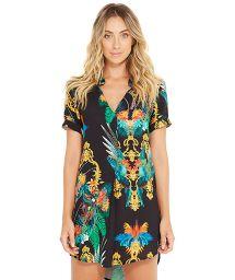 Beach tunic with colorful print - NAOMI REALEZA