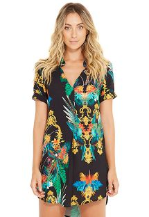 Beach tunic with colorful print - NAOMI REALEZA