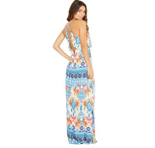 Long light beach dress in ethnic print - SARDENHA TALASSA