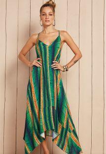 Long green beach dress with straps - VESTIDO BALI