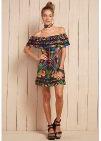 Tropicalbeach dress with Bardot neckline - VESTIDO PILAR