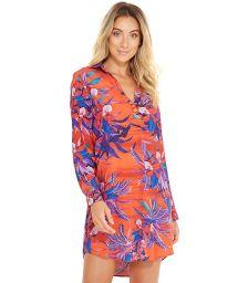 Red and blue shirt beach dress - VIAGEM NOTURNELLA