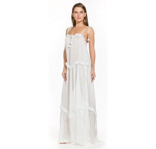 61517bb9ffd8 Vestito Vestito Lungo Da Spiaggia Bianco - Cloe Off White