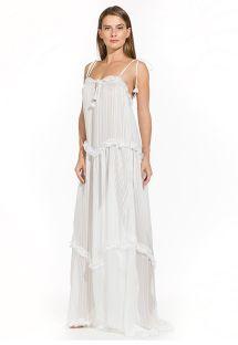Long white boho beach dress - CLOE OFF WHITE