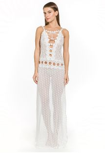 Transparent long white beach dress - NIC OFF WHITE