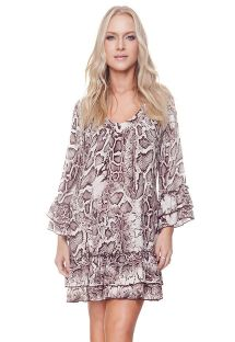Long sleeve dress with reptile print - CISSY TUNIC PYTHON
