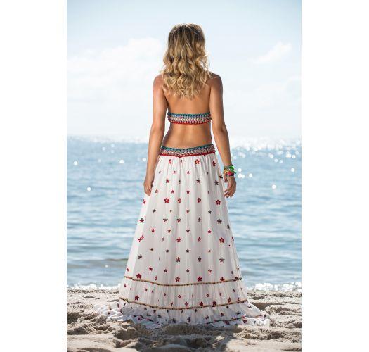 d34f42a08bbb Blombroderad, Lång Strandklänning I Bohemisk Stil - Daisy Long Dress ...