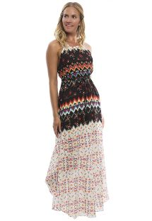 Long beach dress in a fun print - GLADIATOR DRESS