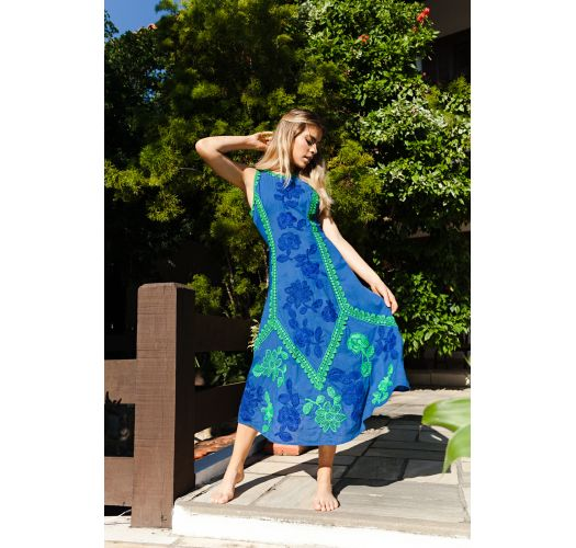 LISBON LONG DRESS BLUE