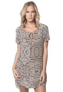 Printed beach dress, short sleeves - RUA DAS PEDRAS BREEZE