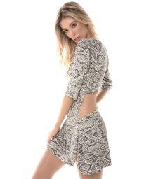 Printed beach dress, see-through back - RUA DAS PEDRAS HYPE