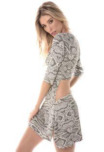 Vestido de playa estampado de espalda transparente - RUA DAS PEDRAS HYPE