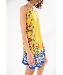 Little printed yellow summer dress - FORMENTEIRA MINI DRESS