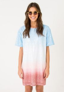 Blue tie dye tie-dye sequined dress - OMBRE DRESS