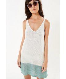 Two-tone knit sleeveless beach dress - TRICOT SEREIA