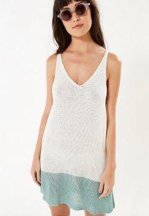 ツートーンの袖なしニットビーチドレス - TRICOT SEREIA