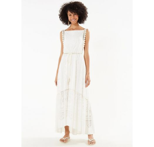 Bohemian chic ecru beach dress - VESTIDO DEVORE