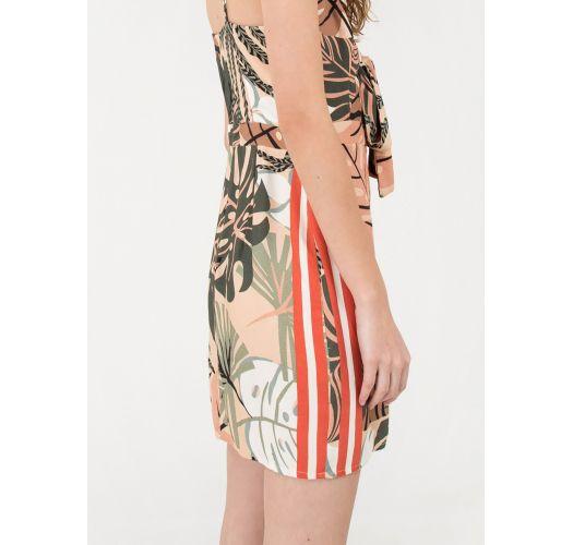 Beach dress in leaves print - VESTIDO FOLHAGEM