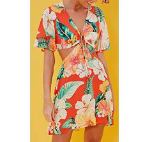 Vestito da spiaggia originale fieoi tropicali - VESTIDO MANGA CHITA TROPICAL