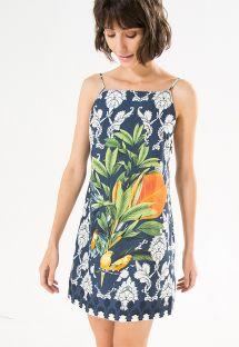 Baroque print beach dress, tropical pattern - VESTIDO MARITACA