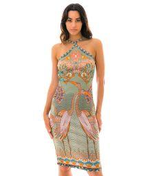 Colorful printed bodycon dress - VESTIDO TROPICAL