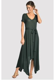 Asymmetric long beach dress - dark green - ASYMMETRIC DRESS ATLANTIC