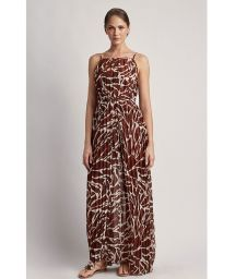 PLEATED COVER-UP GIRAFFE