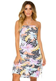 Blommig / zebra bandeauklänning - BANDEAU DRESS BUENA VISTA