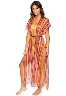 Light long stripped beach dress - FRINGE EL MORO