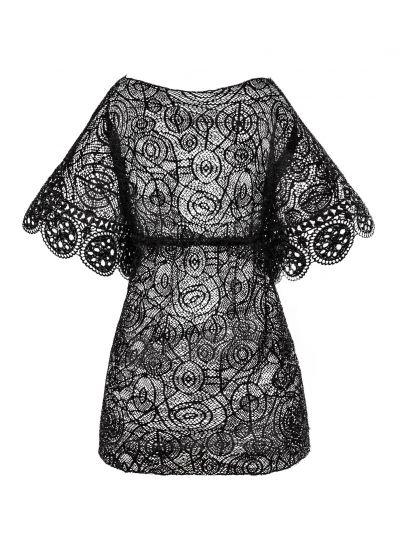 Black lace beach kaftan - MAR NATIVO COVER UP