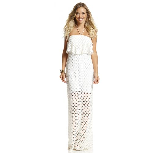 Maxi Dresses Long Crochet Beach Dress In Ecru White Mermaid
