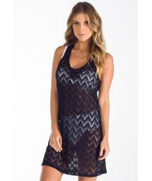 Black lace beach dress with racerback - VESTIDO RENDA