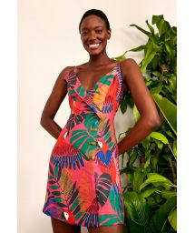 MACAW SIDE BUTTONS MINI DRESS