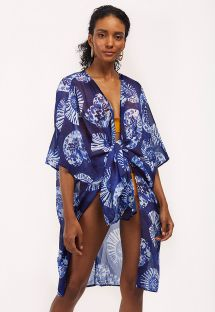 Blue beach kimono in seashells - CONCHA MARINHO