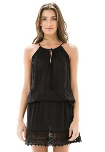 Short black see-through beach dress - CAVA RENDA